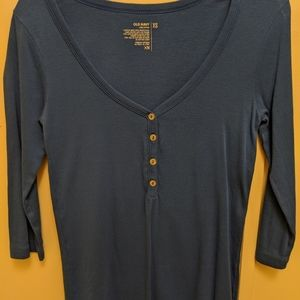 Royal blue 3/4 sleeve top